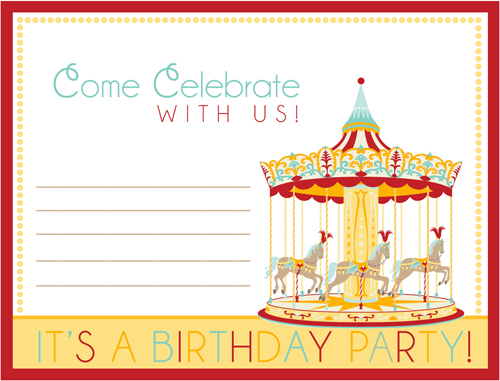 Carousel clipart ticket Invitation Download How  Party: