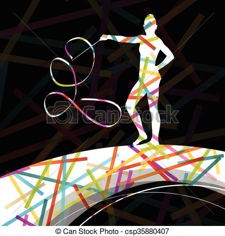 Carneval clipart ribbon Dancing ribbon woman Dancing carnival