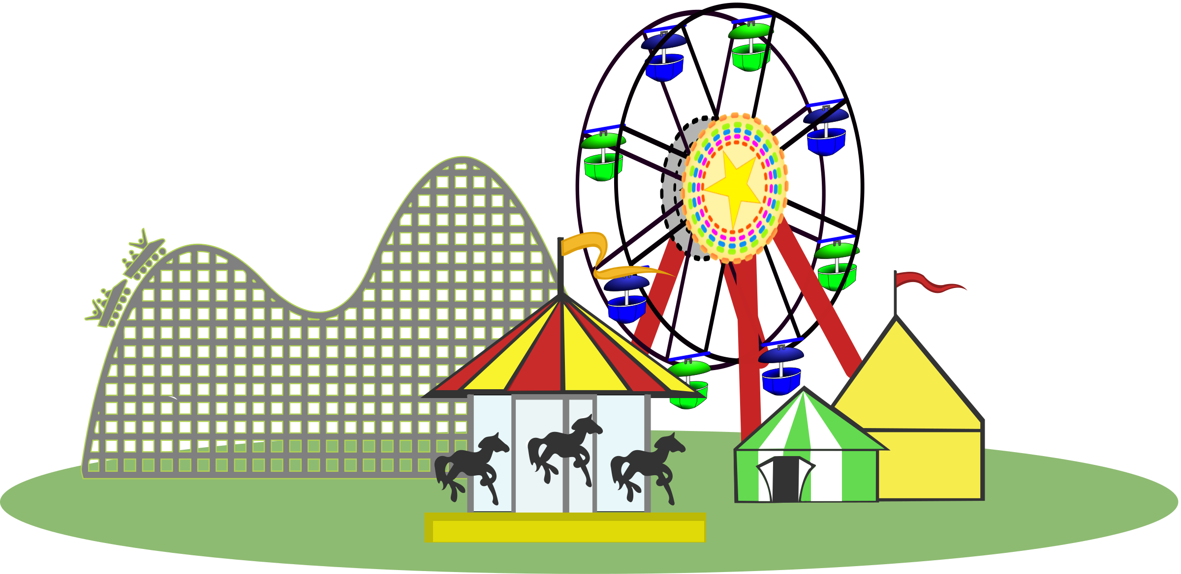 Carneval clipart roller coaster Wide Clipart Color Remix Version