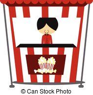 Carnival clipart stalls Of Popcorn csp34387334 illustration Vectors