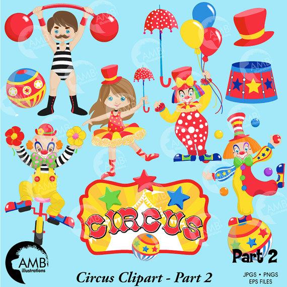 Carneval clipart strong man Clipart tightrope  Clown clowns