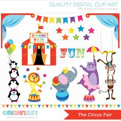 Carneval clipart tent sale Monkey carnival hipp Fair Circus