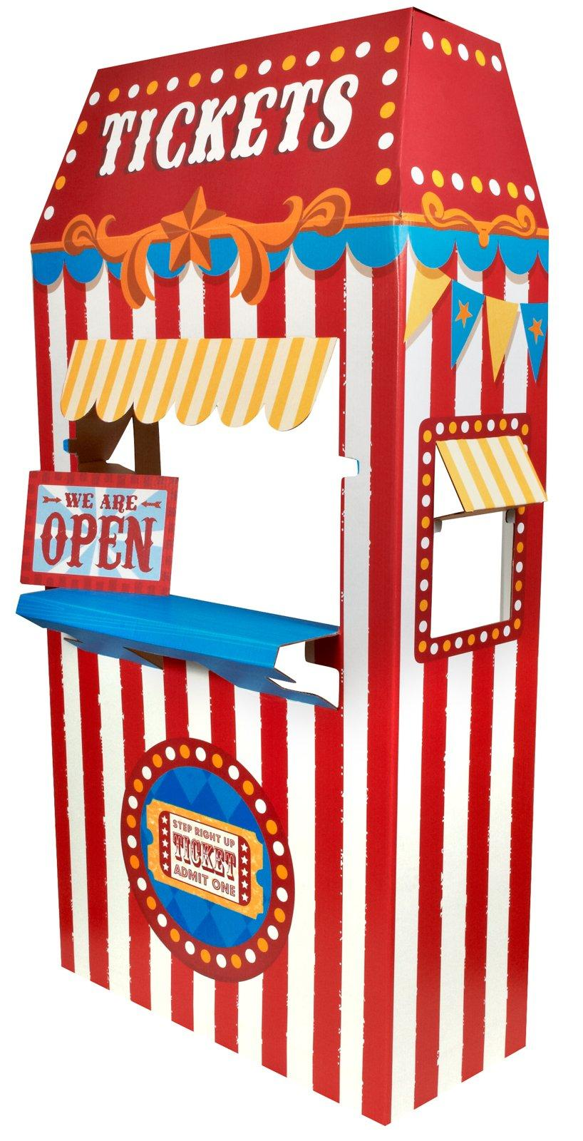 Carnival clipart ticket booth 6' Tall com Cardboard Stand