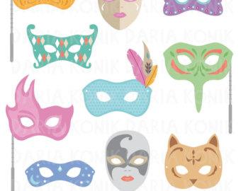 Carneval clipart venetian mask Clipart Gras Etsy Masquerade Masks