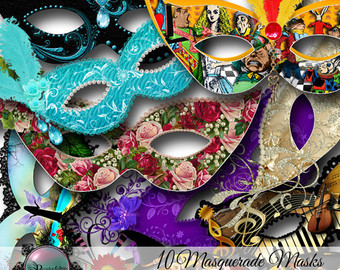Carneval clipart venetian mask Masquerade Masks Etsy clipart Format