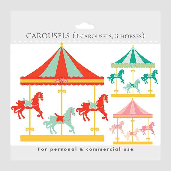 Carousel clipart  Carousel merry go park