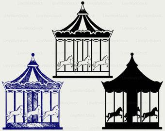 Carousel clipart Round svg Carousel carousel art