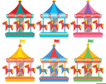 Carousel clipart old Digital clipart Clipart Carousel Etsy