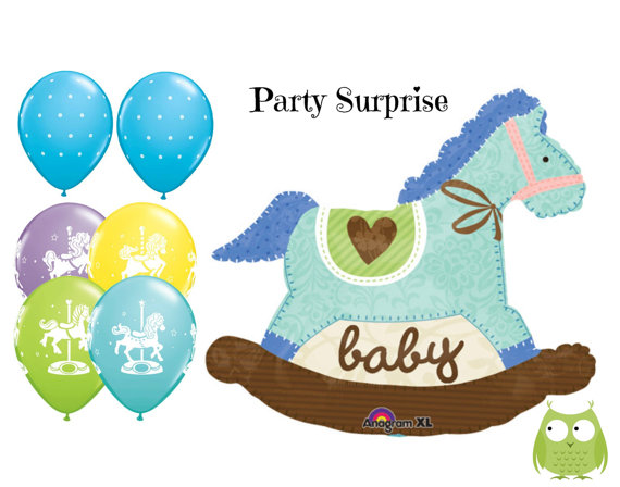 Carousel clipart baby Il_570xn Rocking Shower Baby Boy