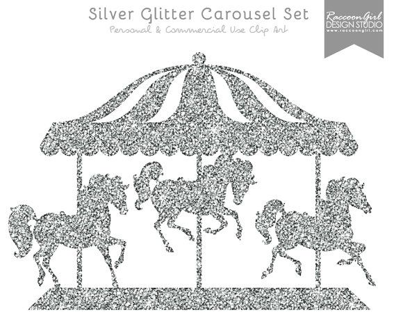 Carousel clipart blue Set on about & Carousel