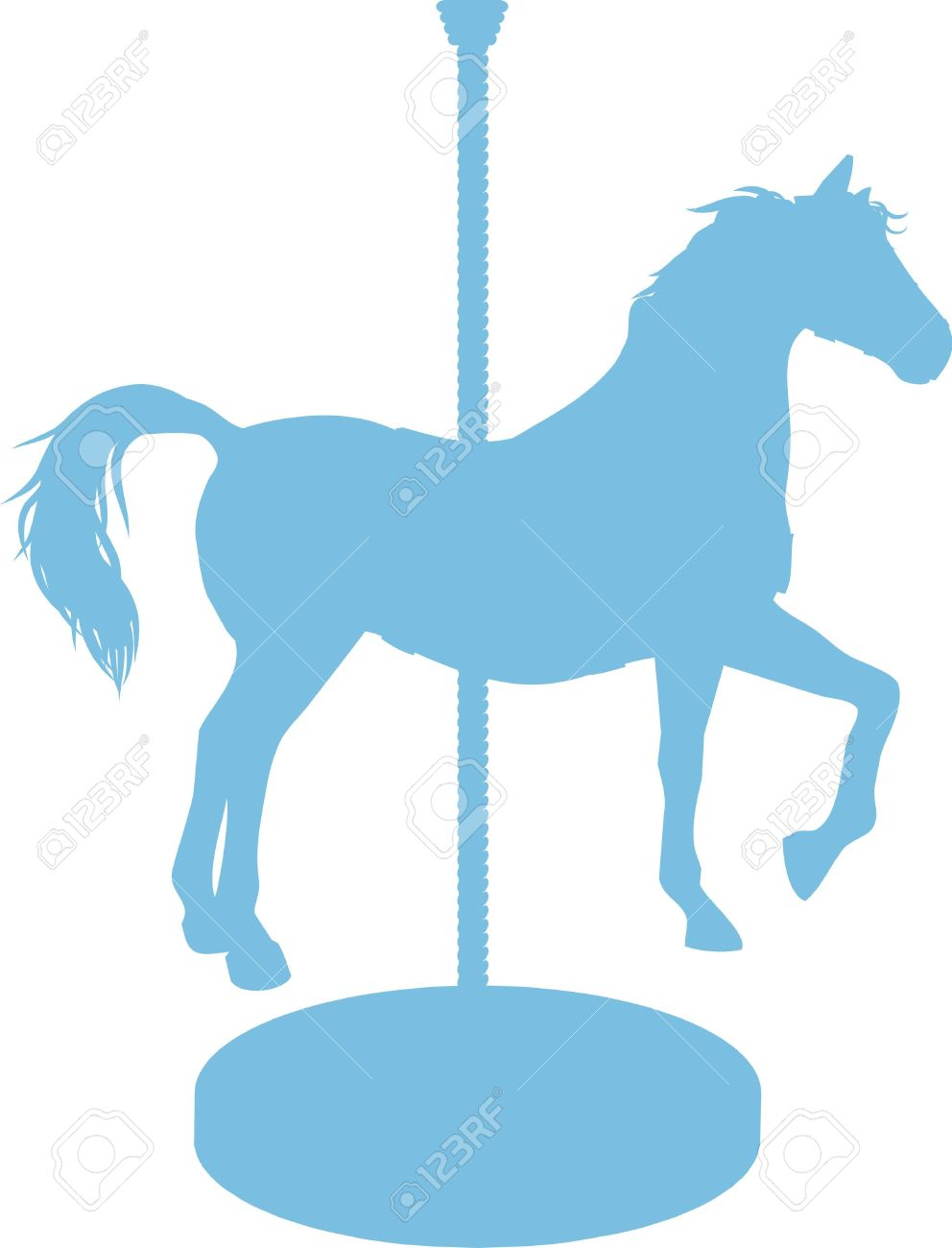 Carousel clipart blue Photo#12 Horse silhouette Carousel art