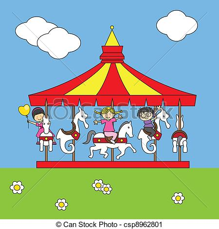 Carousel clipart blue Free Collection Horse Carousel clipart