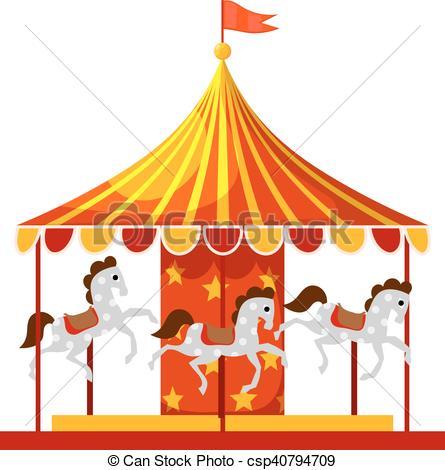 Carousel clipart cartoon Horses Stock children's Cartoon Children