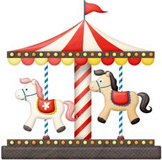 Carousel clipart circus ART Clipart HORSE BirthdayCircus lliella_Ticket2Ride_carousel1