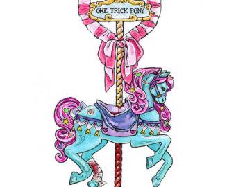 Carousel clipart creepy Etsy by Creepy Cute carousel