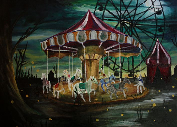 Carousel clipart creepy Pinterest about Round Carousel on