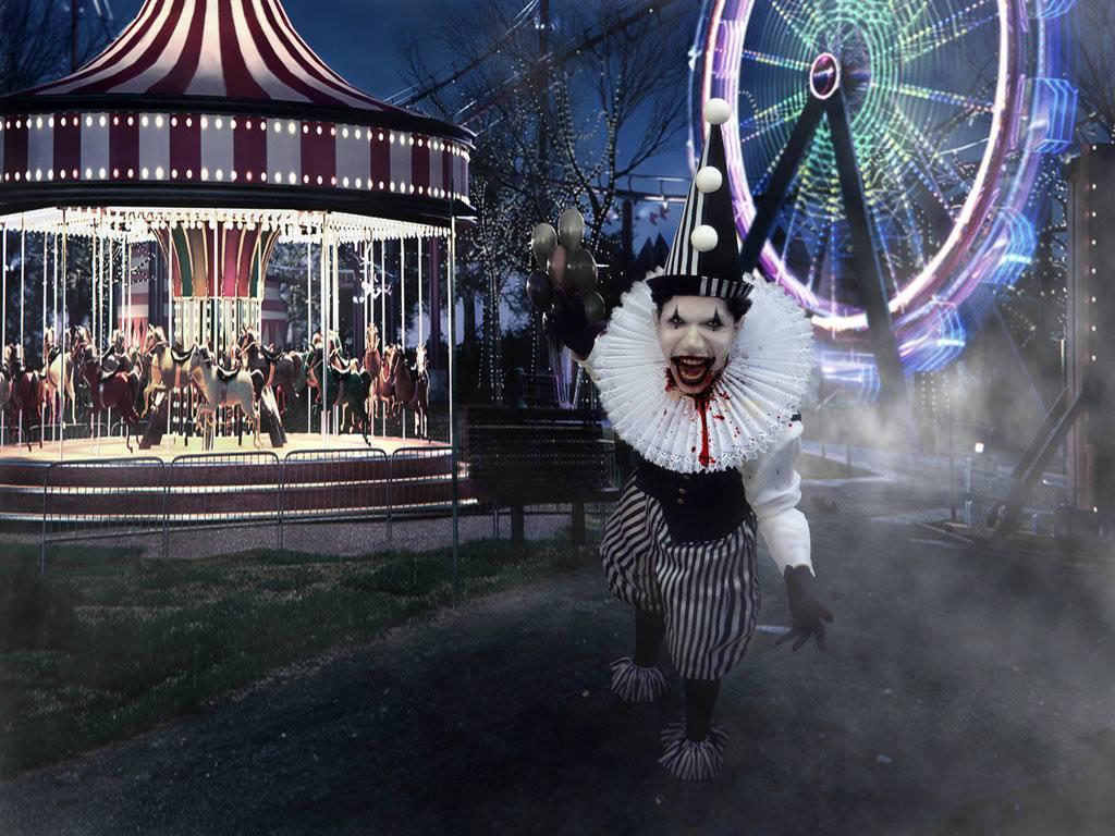 Carousel clipart creepy & Pinterest clown Scary carousel