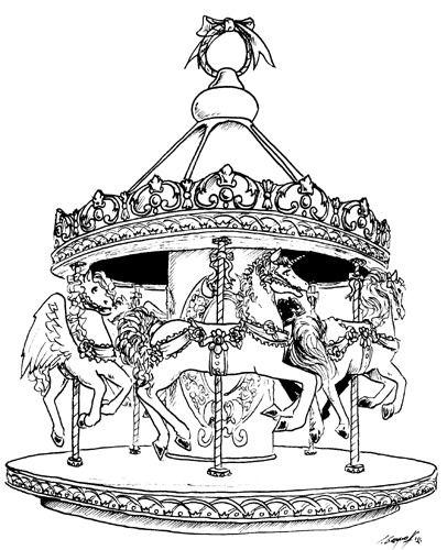Carousel clipart creepy On Greys The  carousel
