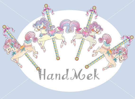 Carousel clipart cute Carousel clipart clipart merry round