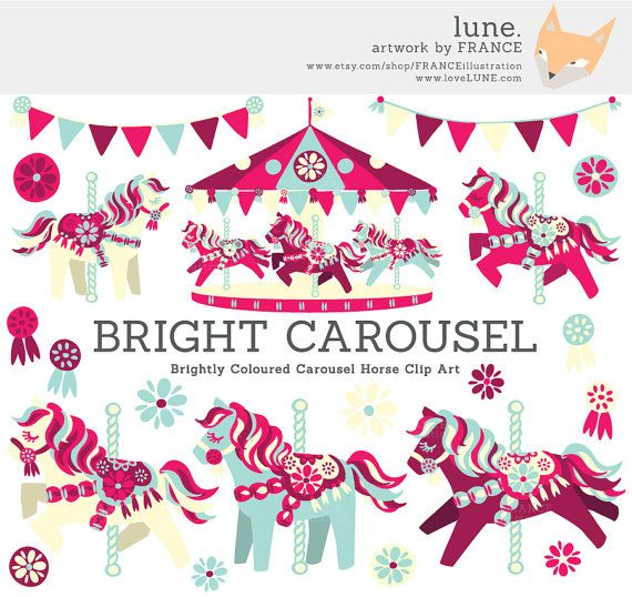 Carousel clipart cute Invitations on Clipart images Art
