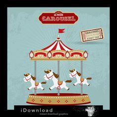 Carousel clipart cute Go