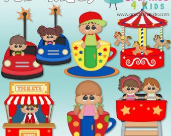 Carousel clipart fair game Digital Rides Clipart scrapbooking for