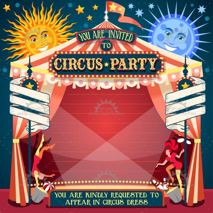 Carousel clipart fair game Invitation 02 Image Circus 99$