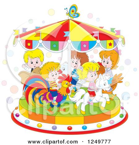 Carousel clipart fair ride Clipart a in park ride
