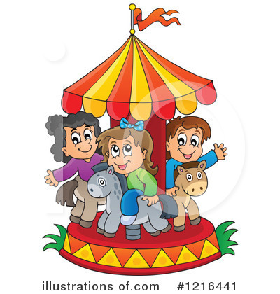 Ride clipart carousel Clipart visekart Illustration #1216441 Royalty