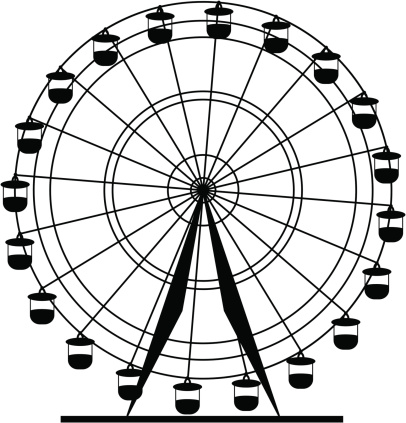 Drawn ferris wheel clip art #14