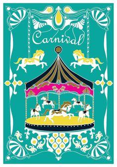 Carousel clipart kids carnival Round go  clip art