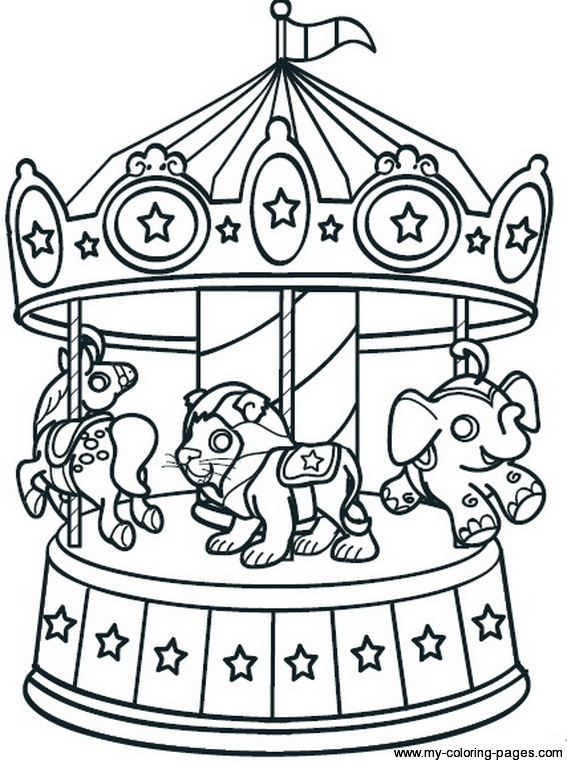 Carousel clipart kids carnival Carousel Carousel Carnival coloring Kids