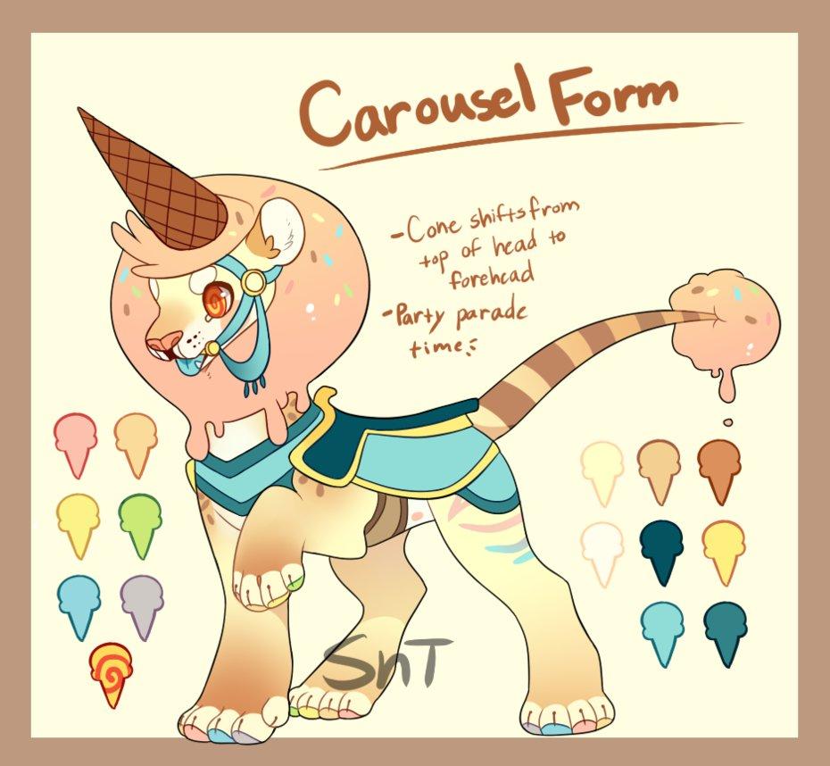 Carousel clipart lion Sweet Lion Carousel treat Form