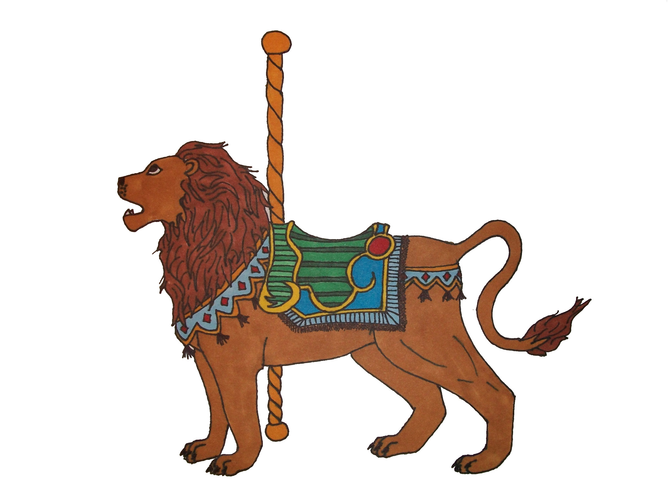 Carousel clipart lion Lion by Carousel by Carousel