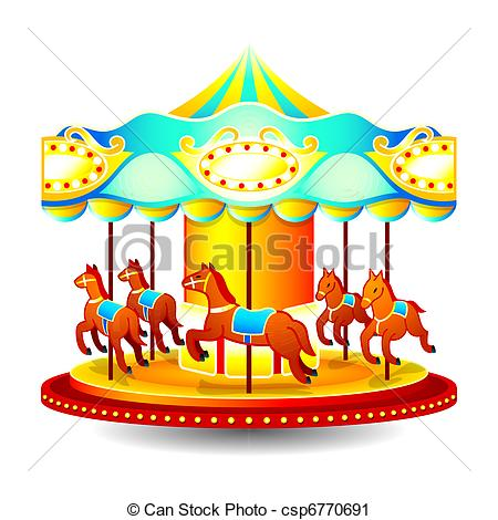 Carousel clipart merry go round  Merry of Small Art