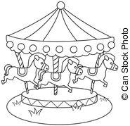 Carousel clipart merry go round  Merry Carousel 4 Horse