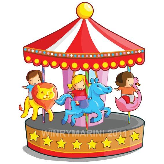 Carousel clipart merry go round Art  Round and Round