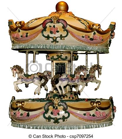 Carousel clipart old Carousel Old Photo is Old
