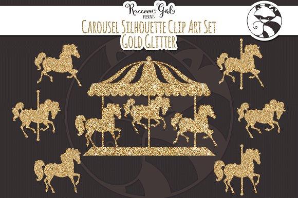 Carousel clipart old Glitter Glitter Art Art Gold