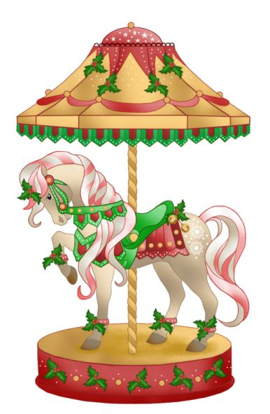 Carousel clipart old CAROUSEL things best images CHRISTMAS