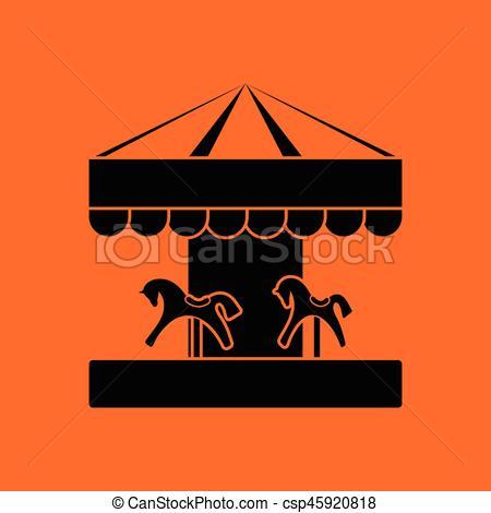 Carousel clipart orange Children icon carousel Art