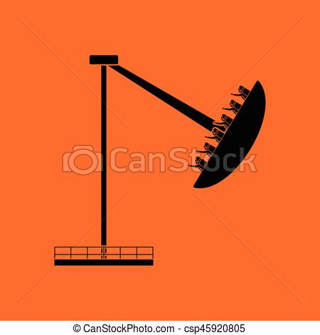 Carousel clipart orange Boat with icon of Clipart