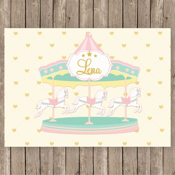 Carousel clipart pastel Best booth images cream banner