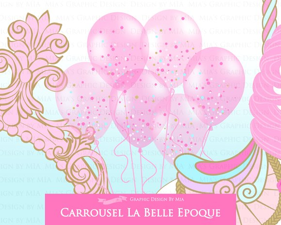 Carousel clipart pink On Carousel Illustrations Pink Creative