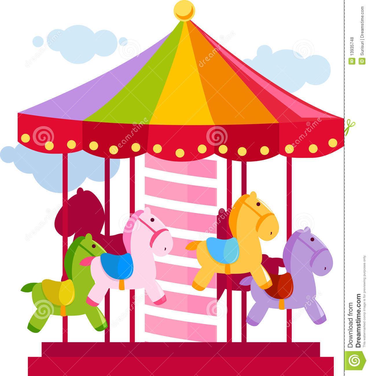 Carousel clipart pink + Art  clipart Clip