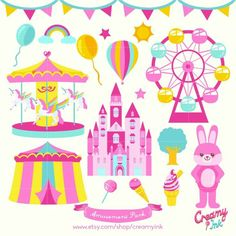 Carousel clipart pink And Clipart Stickers Carousel Carousels