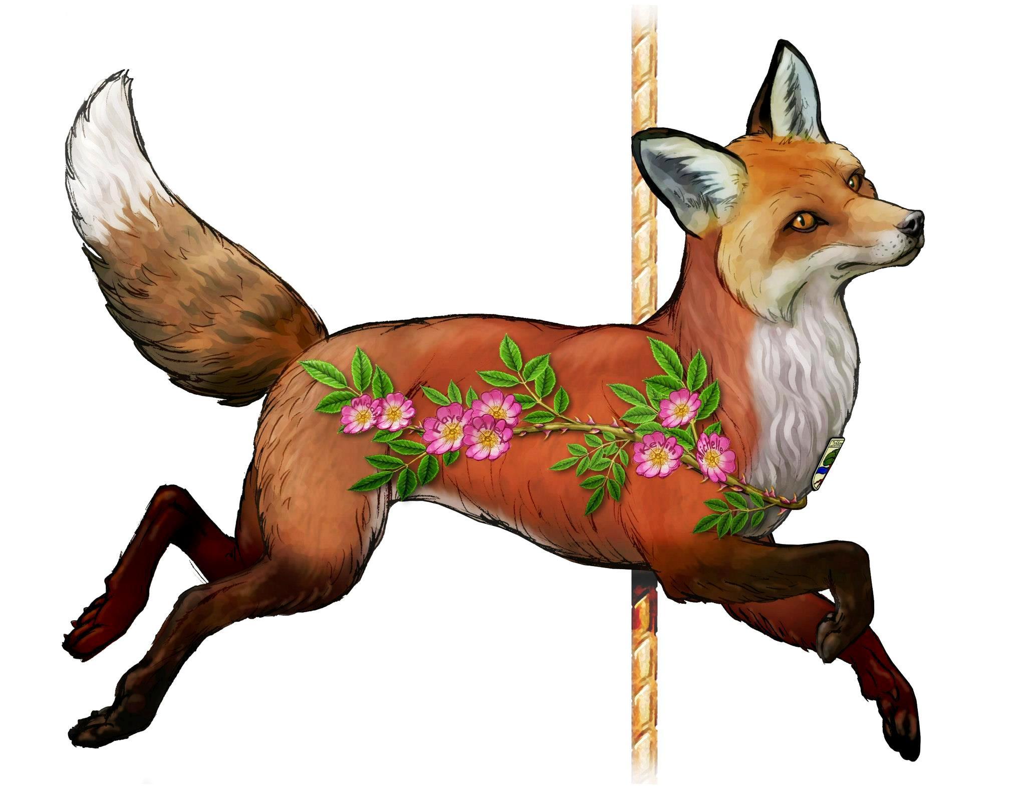 Carousel clipart red  Fox Fox Pinterest merry