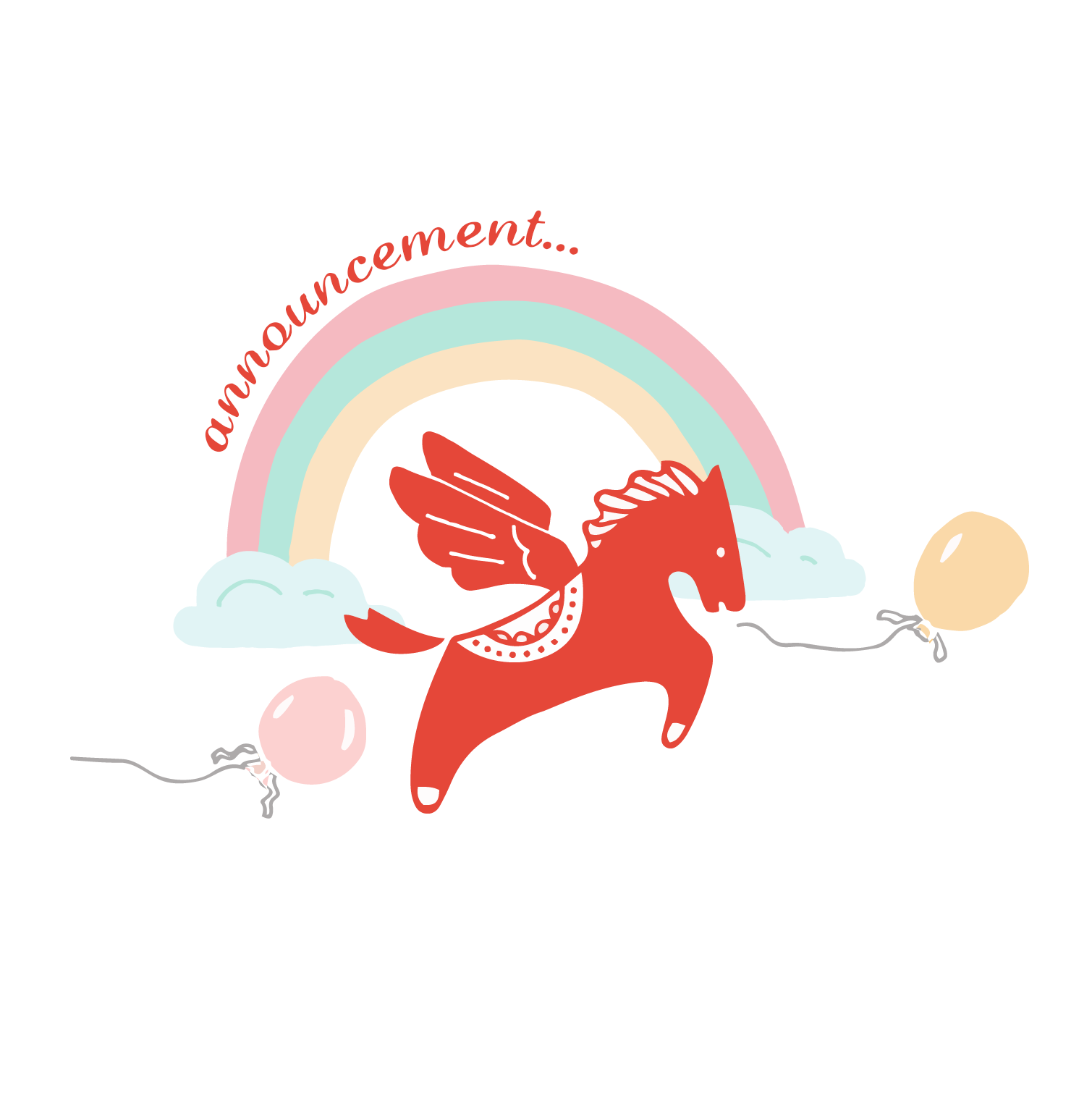 Carousel clipart red Party inspiration Behind Blog scenes