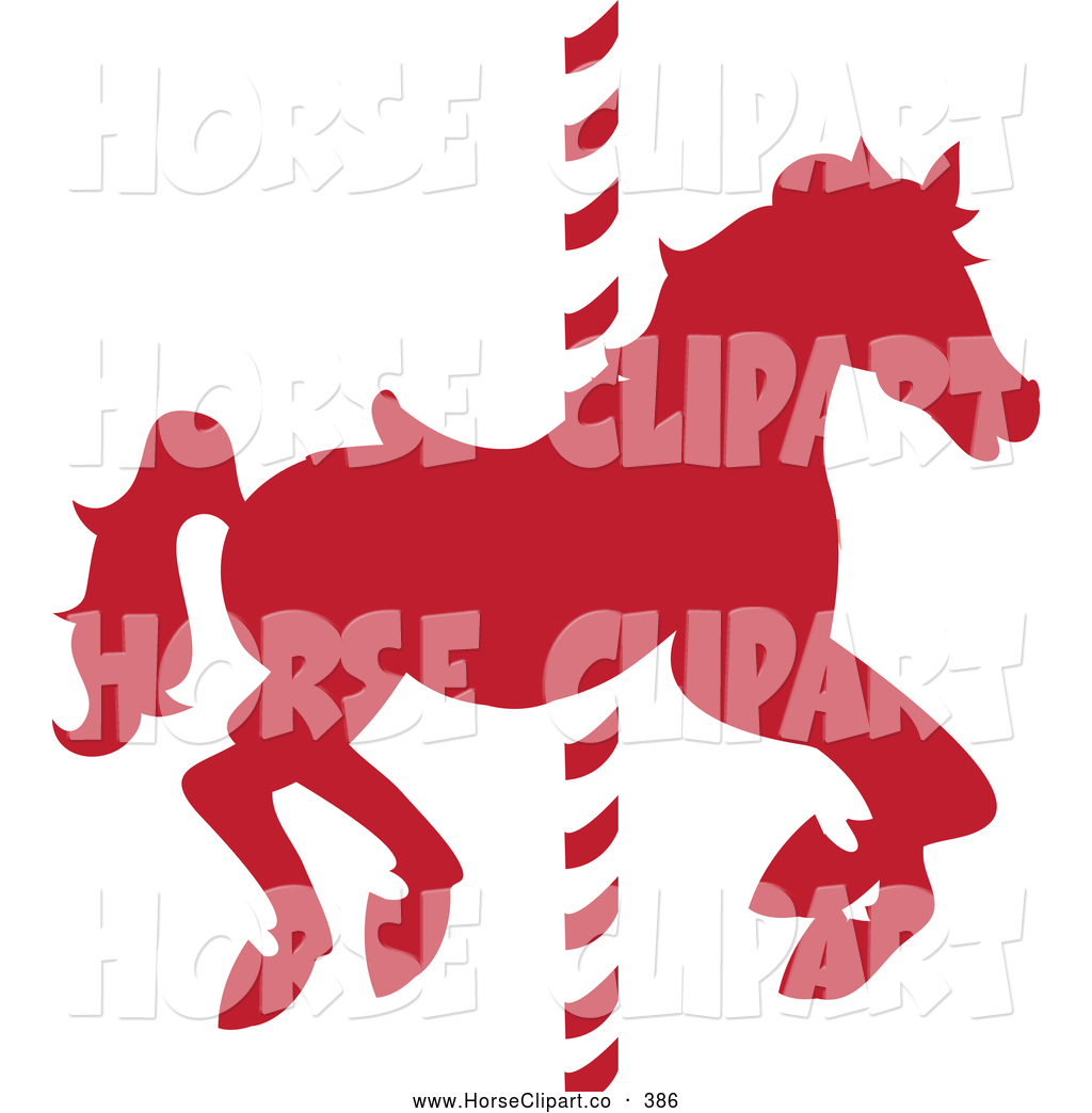 Carousel clipart red On Pole Carousel Horse a