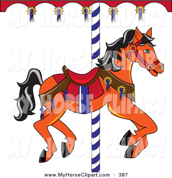 Carousel clipart red And with with Clip Hair